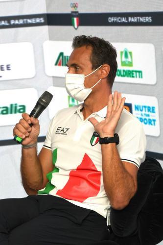 Press conference of Carlo Mornati